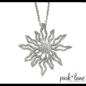 Park Lane Solara Sunburst silver necklace